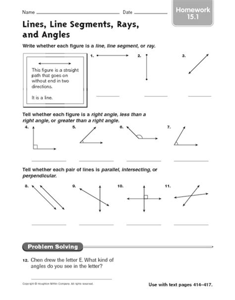 Lines And Angles Worksheet by Image Gallery Lines And Angles Worksheets