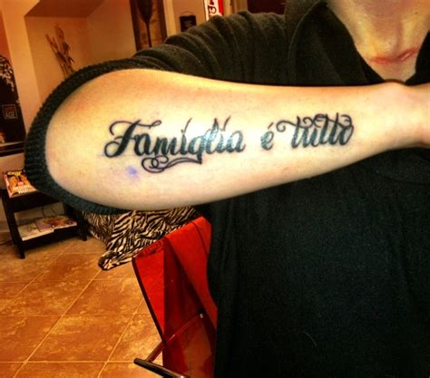tattoo family is everything in italian body art