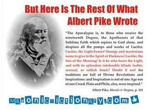 is that really you god book report freemasonry what did albert pike really say