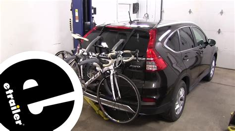 saris bones trunk bike racks review  honda cr  etrailercom youtube