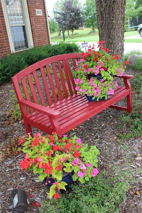 flower pot bench 25 best ideas about red bench on pinterest red desk