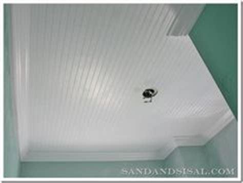 popcorn ceiling peeling in bathroom diy faux rustic plank ceiling via the quaint cottage