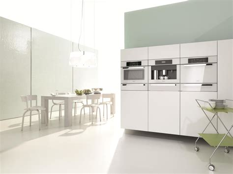 Modern Kitchen With White Appliances Miele Introduces The Timeless Brilliant White Collection Ideas Advice The Tasco