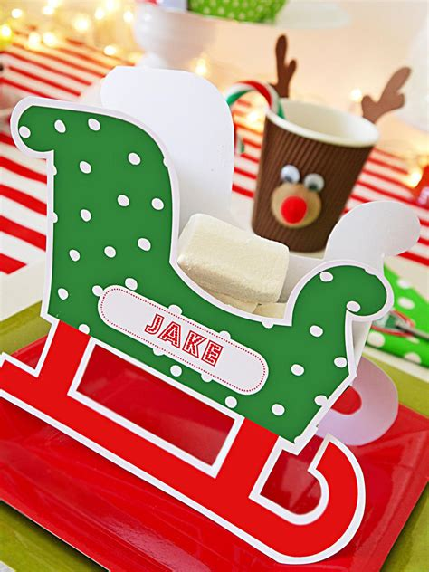 santa place cards templates make personalized sleigh place cards hgtv