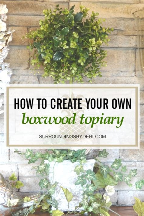 how to make a boxwood topiary how to make the boxwood topiary in 5 easy steps