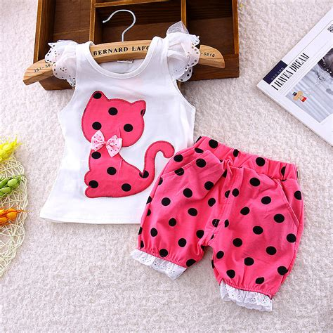 Setelan Anak Minnie Polka 3in1 bibicola summer children fly sleeve bow suit small cat shorts suit baby clothing set