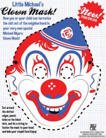 clown mask template master of karate and friendship michael myers clown mask