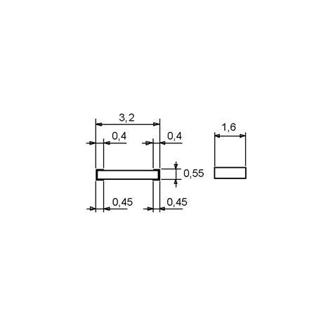 1206 smd resistor dimensions 1206 smd 5 2 7 k 1206 5 0 25w elpro elektronik