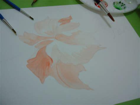 tutorial menggambar watercolor 365 artwork challenge hibiscus flower painting step by