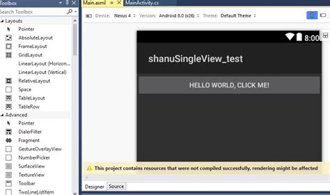 xamarin layout folders getting started with xamarin android single view app