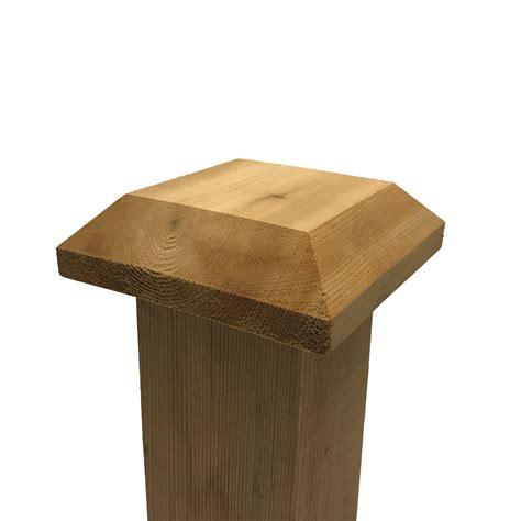 outdoor l posts base flat top cedar wood post cap finial base for 4 quot x 4