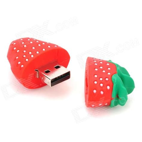 Stick On Led Lights Cute Strawberry Style Usb 2 0 Flash Drive Red Green