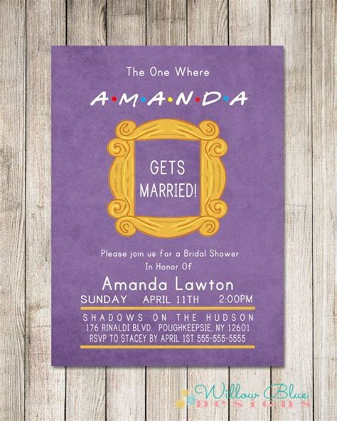 Wedding Invitation Cards To Friends Wedding Inspiration How To Throw The Ultimate Friends Tv