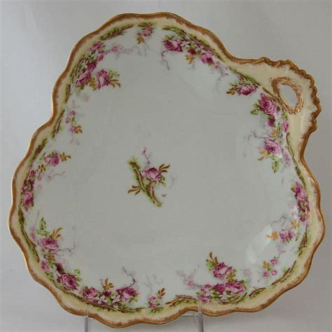 porcelain ls with flowers lewis straus company ls limoges serving dish