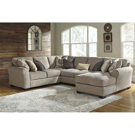 Right Hand Chaise Lounge Ashley Pantomine 4 Piece Left Facing Sectional In