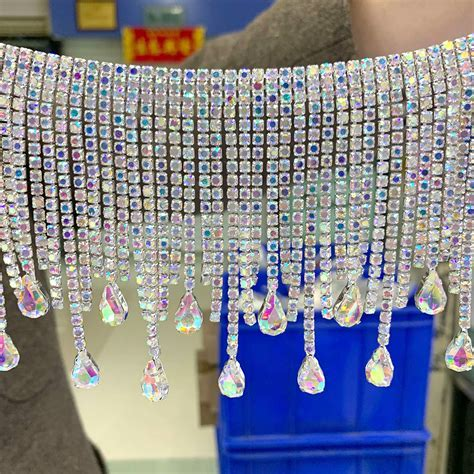 TOP quality tassel Crystal AB Rhinestone Cup Chain Very