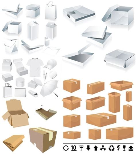 and carton box template vector free vector in encapsulated