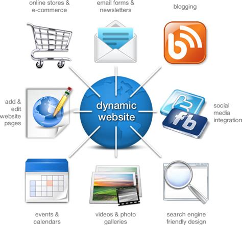 dynamic layout graphic design dynamic websites content management systems visual