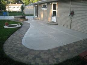 Cement Patio Design by Back Yard Concrete Patio Ideas Concrete Patio California