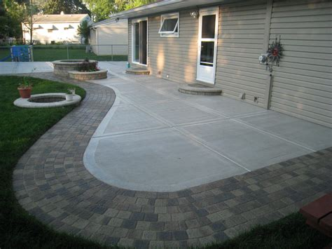 Concrete Patio With Pavers To Install Pavers Concrete Homeoofficee