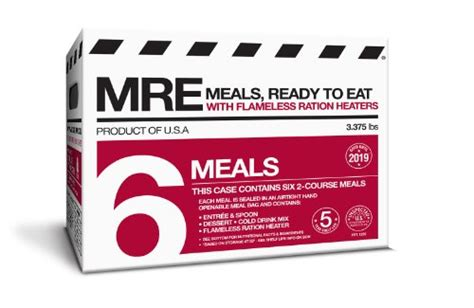 Shelf Of Mres by Mre Meals Ready To Eat Two Course Fresh Mres With Heaters 5 Year Shelf Pack Of 6