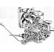 Cutaway Drawing Of The 848cc A Series Complete With Transmission In