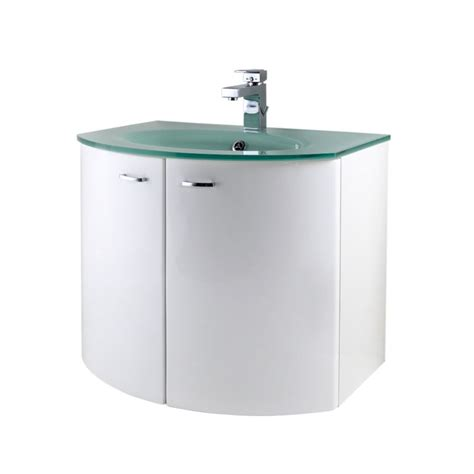 Glass Basin Vanity Unit bandq aquabi vanity unit and glass basin white h 375 x w 700 x l 340mm review compare