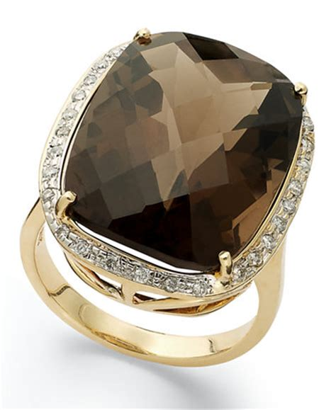 Sherry Topaz 10 02 Ct 14k gold ring smokey topaz 20 ct t w and 1 5