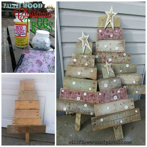 Idea For Wood Metal Mix Decorations by Diy Pallet Wood Trees