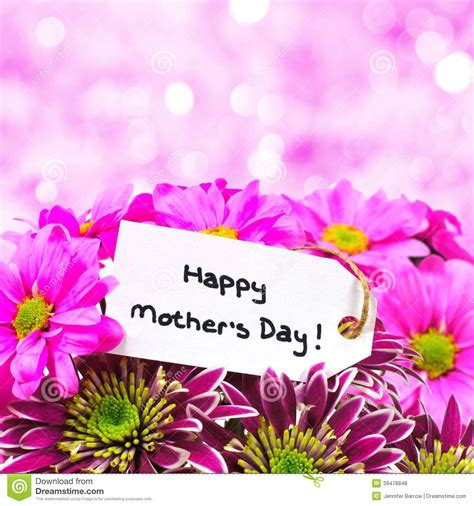 mothers day flowers  pink light background stock photo
