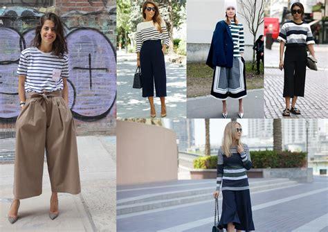 Celana Kulot Pendek Denim Buat Santai Fit To Xl 5 gaya inspirasi mix and match untuk kaos striped mu popbela