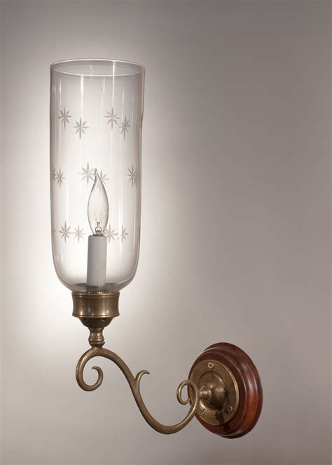antique blown glass hurricane sconce shades