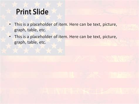 usa powerpoint template free usa flag powerpoint template for your