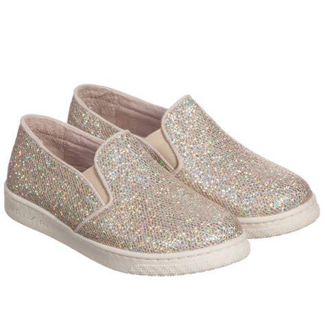 unisa gold glitter slip on shoes childrensalon