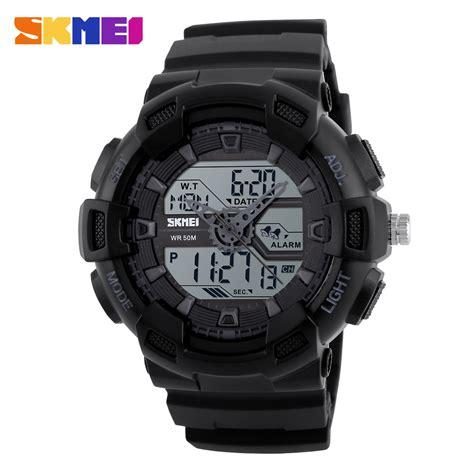 Review Jam Tangan skmei jam tangan digital analog pria 1189 black