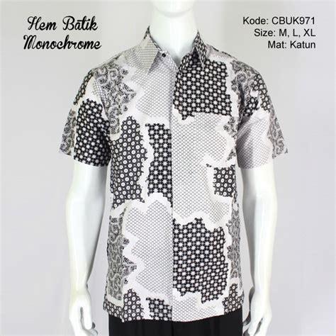 Kemeja Batik Monochrome kemeja batik pendek monochrome kemeja lengan pendek
