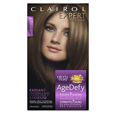what hair colour age 61 clairol age defy expert collection 6a light ash brown