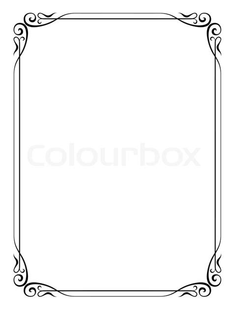 simple ornamental decorative frame stock vector colourbox