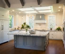 white kitchen cabinets with gray island kitchen