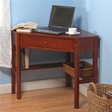 Shop Tms Furniture Cherry Corner Desk At Lowes Com Corner Desk Furniture