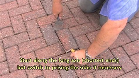 How To Remove A Patio by Removing A Block Paver Using Basic Tools