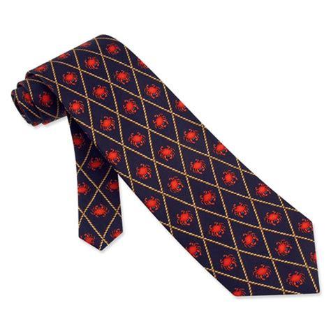 crabs navy blue silk tie necktie s animal print neck
