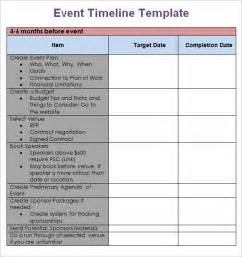 Free Event Template by 9 Event Timeline Templates Free Sle Exle Format