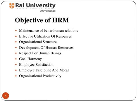 Resume Sample Objectives by Introduction To Human Resource Management Evolution