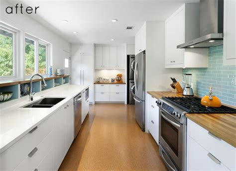 kitchen layout ideas galley before and after modern galley kitchen design sponge