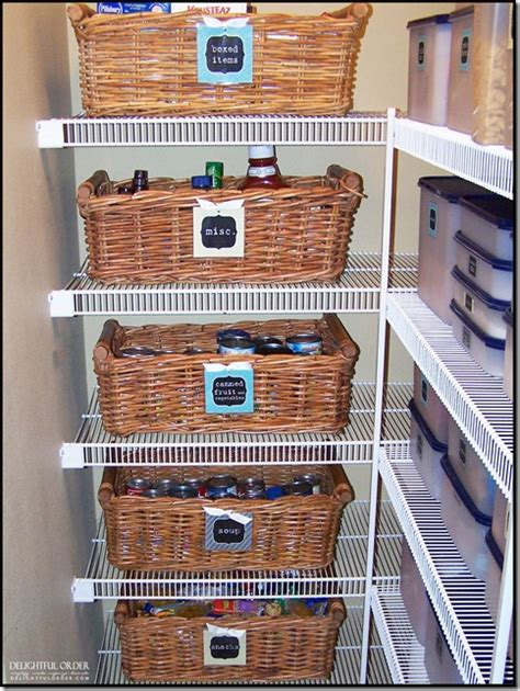 Pantry Organization Baskets by 17 Canned Food Storage Ideas To Organize Your Pantry