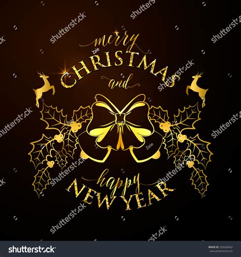 new year story text merry happy new year golden stock vector