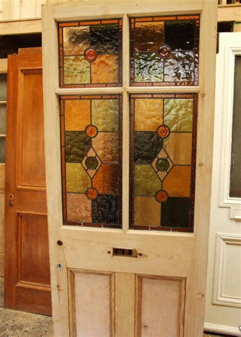 Reclaimed Stained Glass Doors Reclaimed Antique And Edwardian Stained Glass Doors