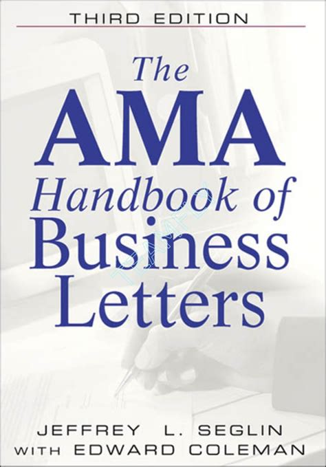 Business Letter Handbook The Ama Handbook Of Business Letters