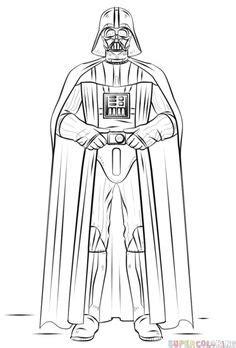 13 mejores imágenes de Darth Vader Dibujo   Guerra de las